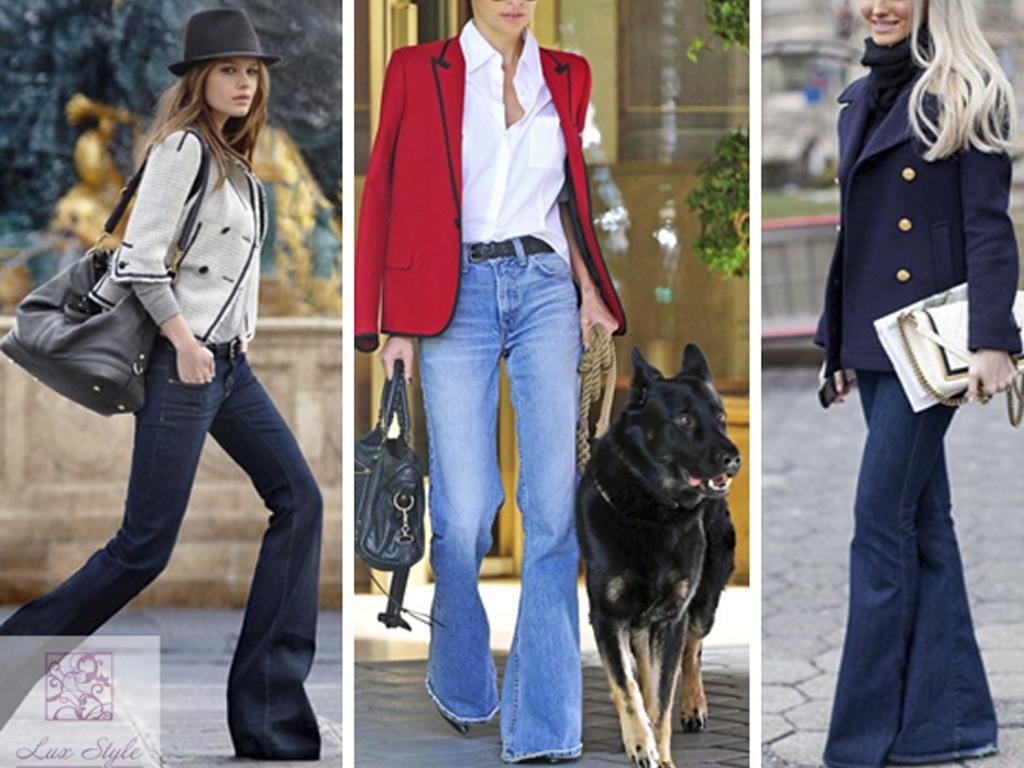 Как и с чем носить джинсы-клеш: детальное руководство