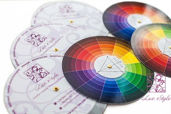 Цветовой круг по сочетаниям цветов