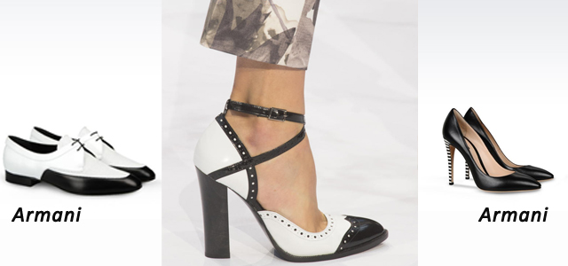 черно белая обувь весна 2016