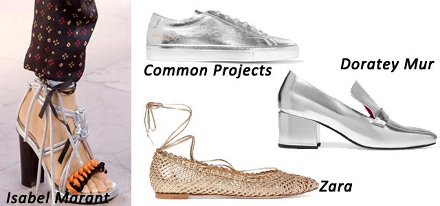 обувь металлик