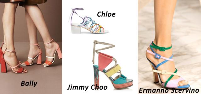 цвета обуви весна 2016