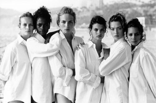 Peter-Lindbergh-Estelle-Lefebure-Karen-Alexander-Rachel-Williams-Linda-Evangelista-Tatjana-Patitz-Christy-Turlington-Vogue-US-Los-Angeles-USA-1988