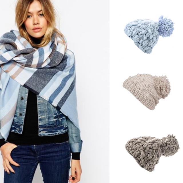 как сочетать шапку и шарф